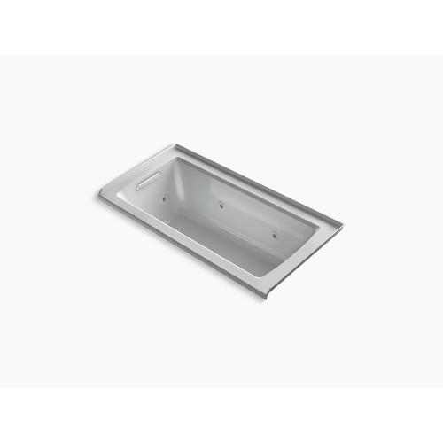 "Ice Grey 60"" X 30"" Three-side Integral Flange Whirlpool With Heater and Left-hand Drain"