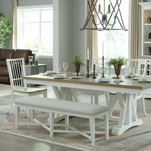 AMERICANA MODERN DINING Bench Counter Upholstered 49 in.