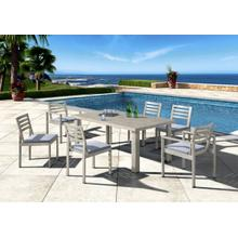Renava Dunes Outdoor Grey Dining Table Set