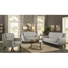 Baby Natalia Mid-century Modern Beige Three-piece Living Room Set