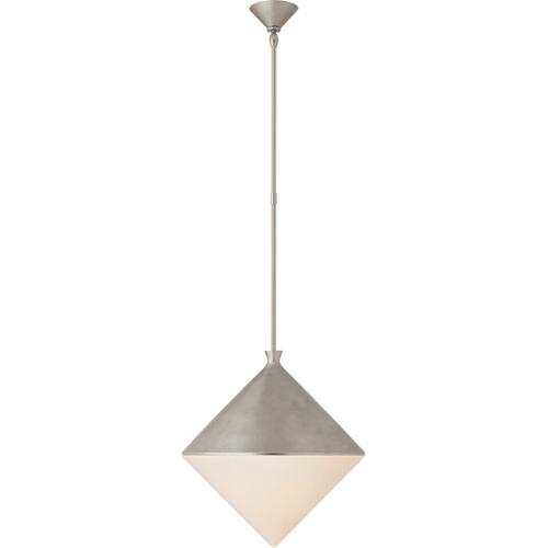AERIN Sarnen LED 18 inch Burnished Silver Leaf Pendant Ceiling Light, Large