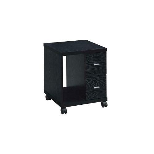 Contemporary Black Oak Cpu Stand