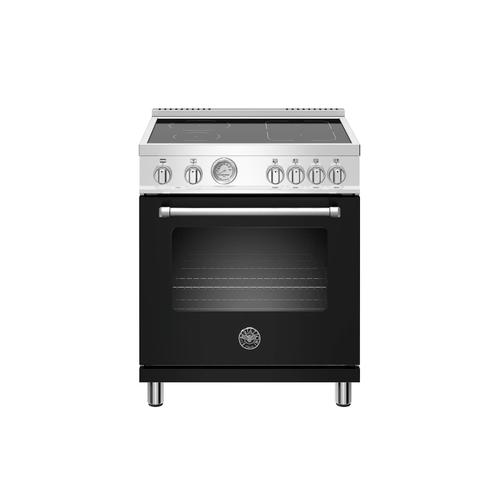 30 inch Induction Range, 4 Heating Zones, Electric Oven Nero Matt