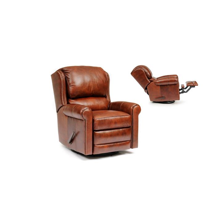 Smith Brothers Furniture - Leather Manual Reclining Chair