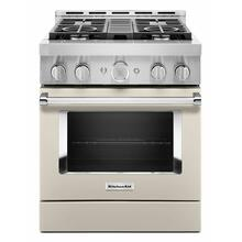 View Product - KitchenAid® 30'' Smart Commercial-Style Gas Range with 4 Burners - Milkshake