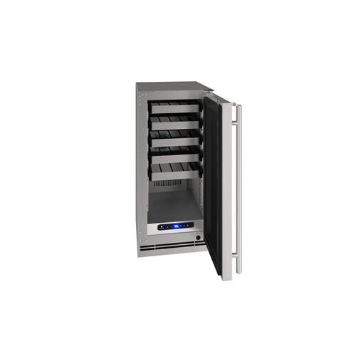 "15"" Wine Refrigerator With Stainless Solid Finish (115 V/60 Hz Volts /60 Hz Hz)"