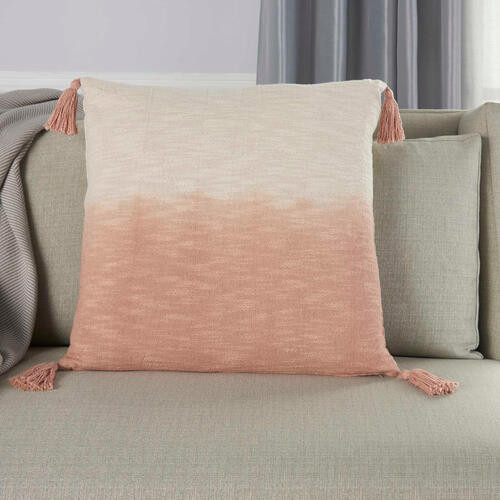 "Life Styles Aq130 Blush 22"" X 22"" Throw Pillow"