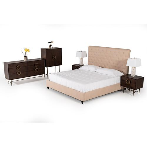 VIG Furniture - Modrest Garland Modern Beige Fabric Bed