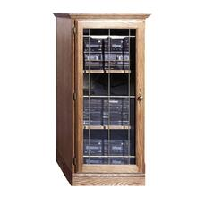See Details - Forest Designs Traditional Oak Audio Tower with Glass Door (1): 25W x 45H x 21D