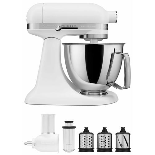 KitchenAid - Exclusive Artisan® Series Stand Mixer & Fresh Prep Attachment Set - Matte White