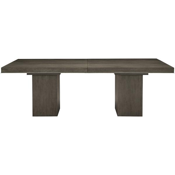 See Details - Linea Rectangular Dining Table in Cerused Charcoal (384)