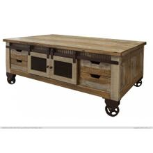 See Details - Cocktail Table, 4 Doors, 8 Drawers