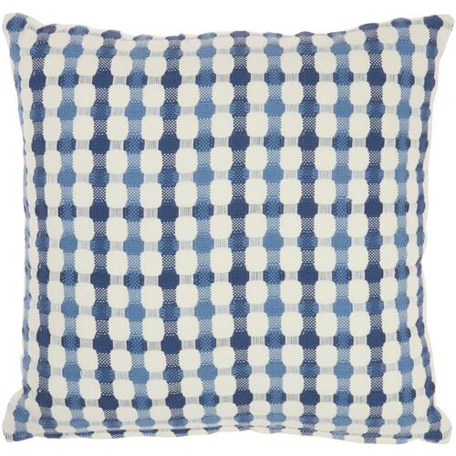 "Life Styles Ss911 Blue 18"" X 18"" Throw Pillow"