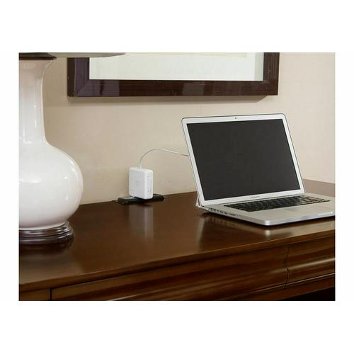 2-Drawer Laptop/Tablet Desk with Charging Station