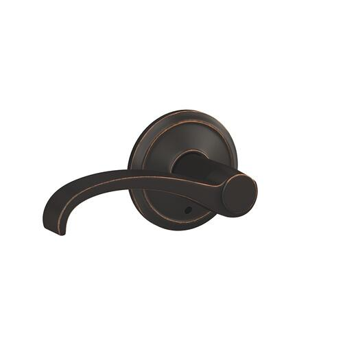 Custom Whitney Lever with Alden Trim Hall-Closet and Bed-Bath Lock - Aged Bronze