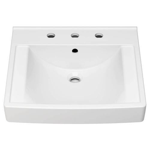 American Standard - Decorum 20-1/4-in. x 21-in. Commercial Bathroom Sink for use with 8-in. Widespread Faucets  American Standard - White