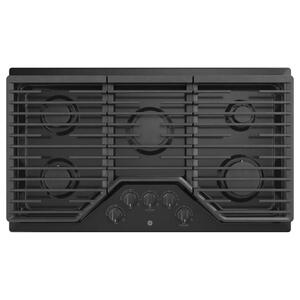 "GE®36"" Built-In Gas Cooktop with 5 Burners and Dishwasher Safe Grates"