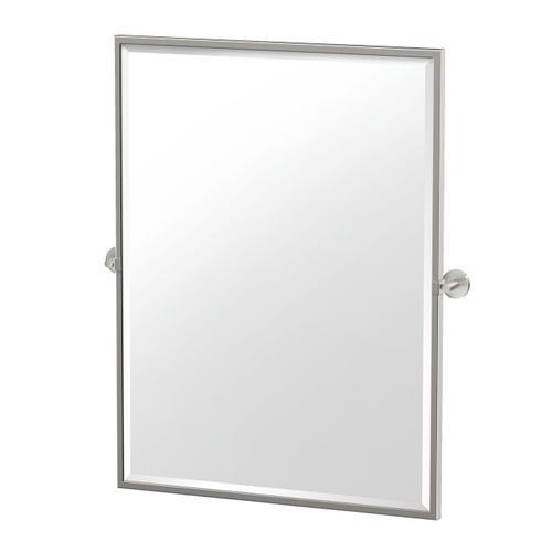 Sky Framed Rectangle Mirror in Satin Nickel