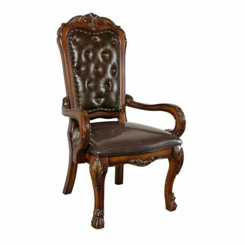 ACME Dresden Executive Chair - 12170 - PU & Cherry Oak