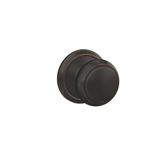 Custom Andover Non-Turning Knob with Alden Trim - Aged Bronze
