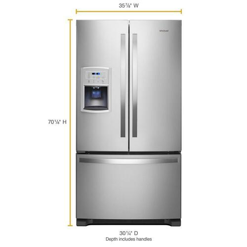 Product Image - 36-inch Wide Counter Depth French Door Refrigerator - 20 cu. ft.