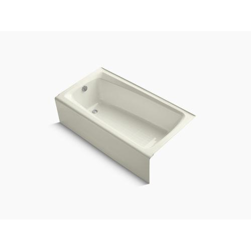 """Biscuit 60"""" X 32"""" Alcove Bath With Integral Apron and Left-hand Drain"""