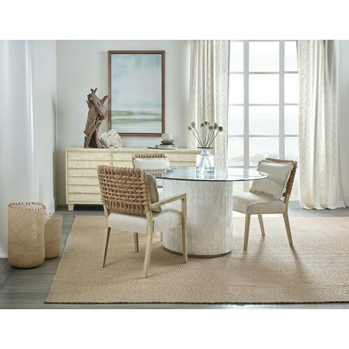 Dining Room Melange Gypsum Round Dining Table Base
