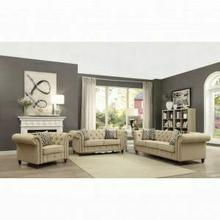 ACME Aurelia Sofa w/2 Pillows - 52420 - Beige Linen