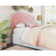 Queen Bed Headboard in Dusty Pink Velvet