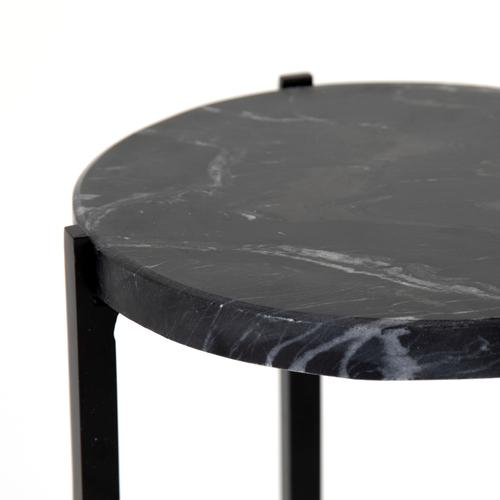 Black Italian Finish Hannah Accent Table