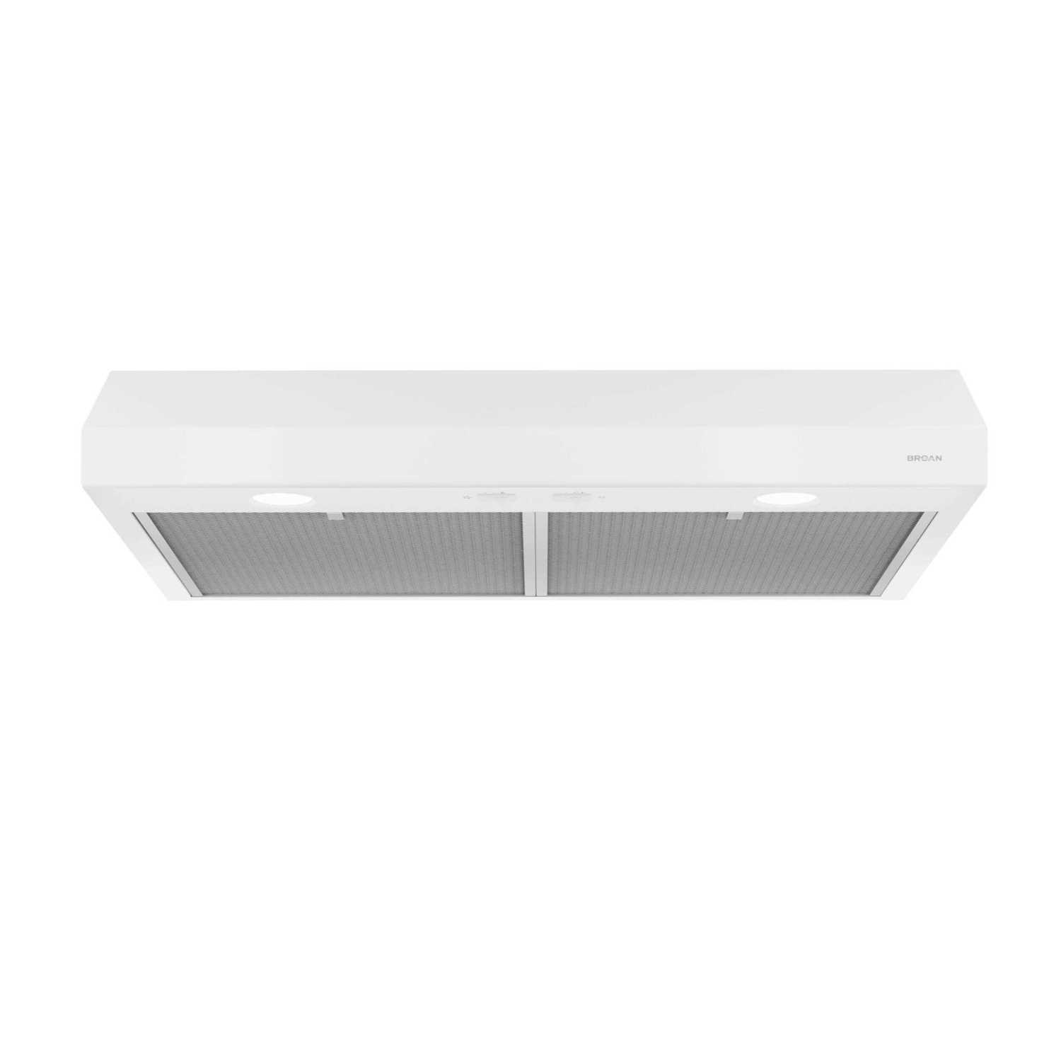 Glacier 36-Inch 250 CFM White Range Hood with light Photo #1