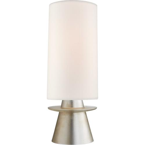 AERIN Livia 25 inch 60 watt Burnished Silver Leaf Table Lamp Portable Light, Small