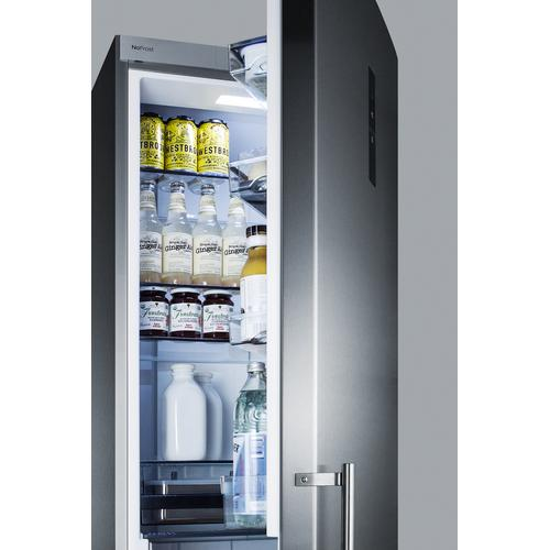 """24"""" Wide Built-in Bottom Freezer Refrigerator With Icemaker"""