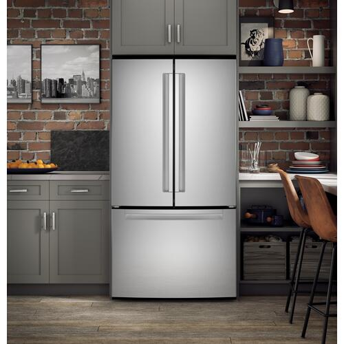 Haier - ENERGY STAR® 27.0 Cu. Ft. Fingerprint Resistant French-Door Refrigerator