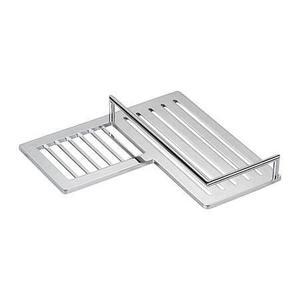Polished Chrome Combination Corner Shower Shelf - Left