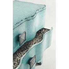 See Details - Melange Turquoise Crackle Chest