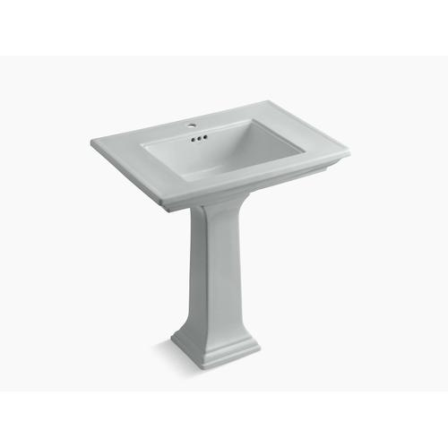 """Ice Grey 30"""" Pedestal Bathroom Sink With Single Faucet Hole"""