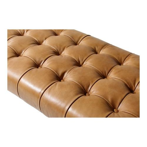 Moe's Home Collection - Wyatt Leather Bench Tan