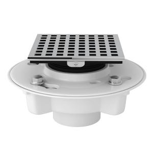 "Polished Chrome Pvc 2"" X 3"" Drain Kit With 3143 Matrix Decorative Cover Product Image"