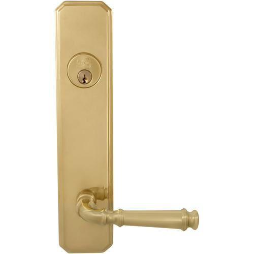 Product Image - Exterior Traditional Deadbolt Entrance Lever Lockset in (US3 Polished Brass, Lacquered)
