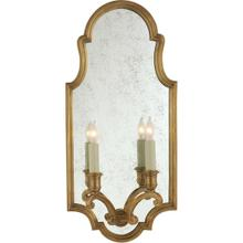 View Product - E. F. Chapman Sussex 2 Light 10 inch Antique-Burnished Brass Decorative Wall Light