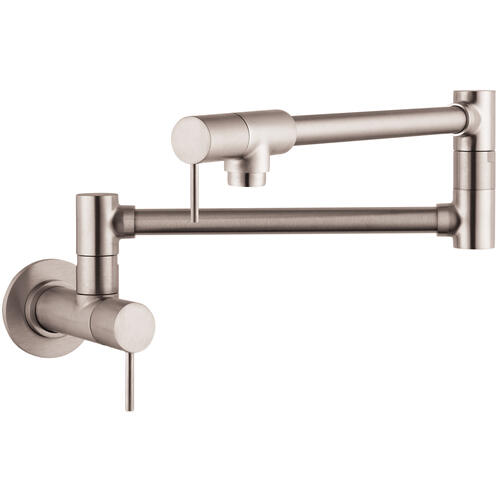 Stainless Steel Optic Single lever kitchen mixer wall-mounted