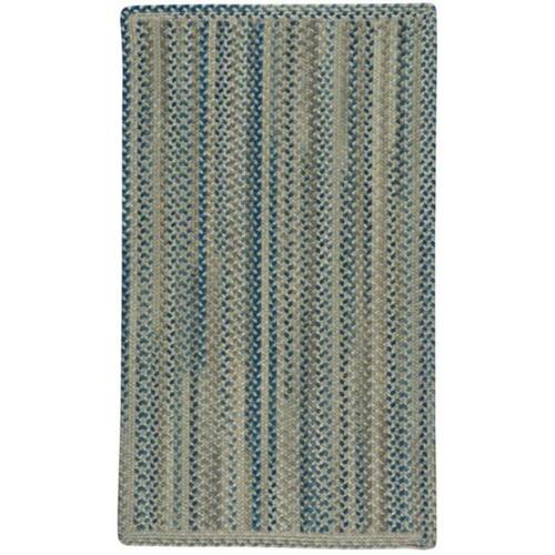 """Fusion Blue Taupe - Vertical Stripe Rectangle - 20"""" x 30"""""""