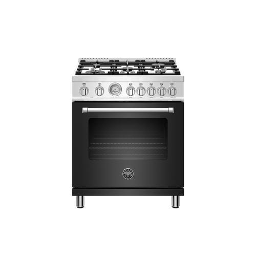 Bertazzoni - 30 inch Dual Fuel, 5 Burners, Electric Oven Nero Matt
