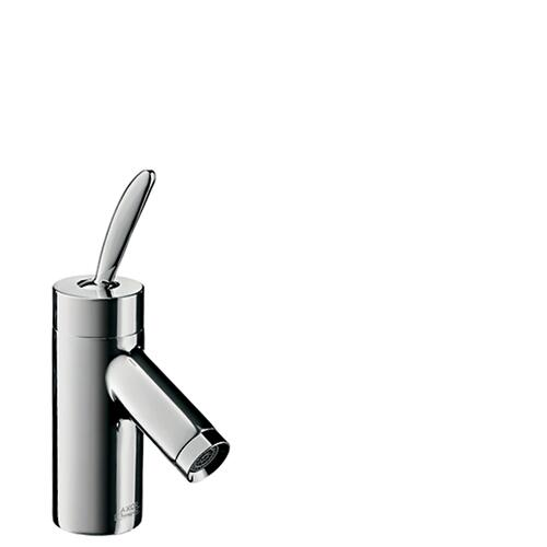 Stainless Steel Optic Single lever basin mixer 60 for hand washbasins with pop-up waste set