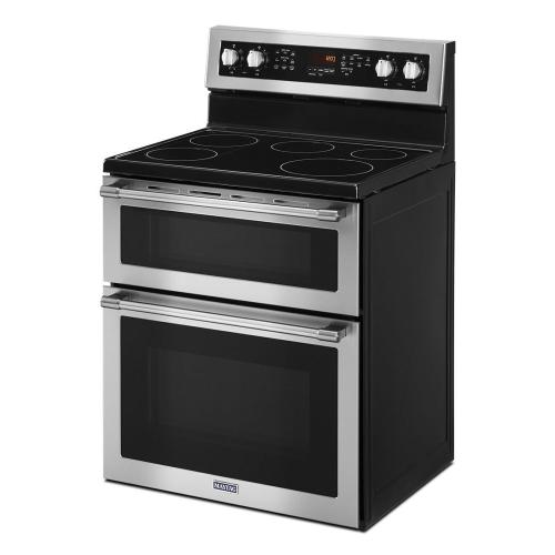 Maytag - 30-Inch Wide Double Oven Electric Range With True Convection - 6.7 Cu. Ft.