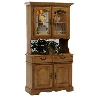 See Details - Classic Oak Burnished Small China Cabinet