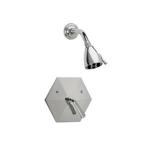 LA VERRE & LA CROSSE Pressure Balance Shower Set PB3170 - Satin Gold with Satin Nickel
