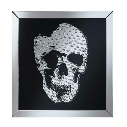 Contemporary Black Skull Wall Mirror
