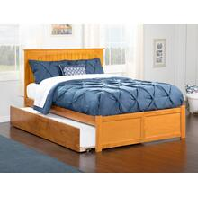 Nantucket Full Flat Panel Foot Board with Urban Trundle Bed Caramel Latte